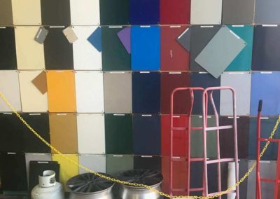 Colour pallet for powder coating from where customers can choose the colour they want to use on their powder coating job