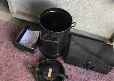 A selection of household items that have been restored by abrasive blasting and powder coating