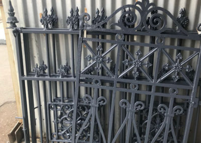 Heritage iron gates which have been powder coated
