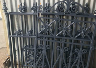 Heritage iron fence which has been sand basted and powder coated